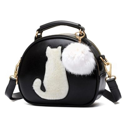 Geanta Dama Puff Kitty Casual Neagra